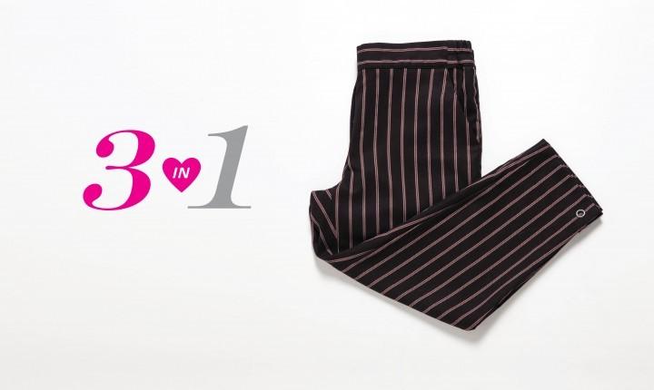 זוג מכנסיים אחד - 3 אפשרויות לבוש